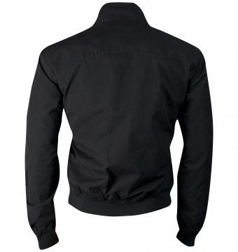 schwarze lonsdale harringtonjacke mit logo stick