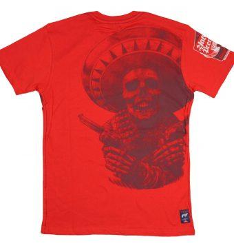 rotes Yakuza t-shirt mit print vorne und hinten